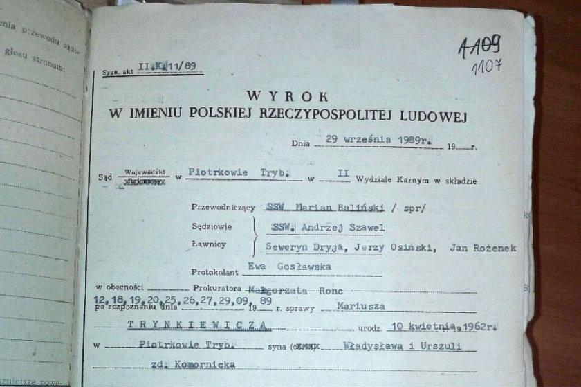 Trynkiewicz został skazany na karę śmierci, ale zmiana ustawy spowodowała, że zamieniono ją na 25 lat pozbawienia wolności
