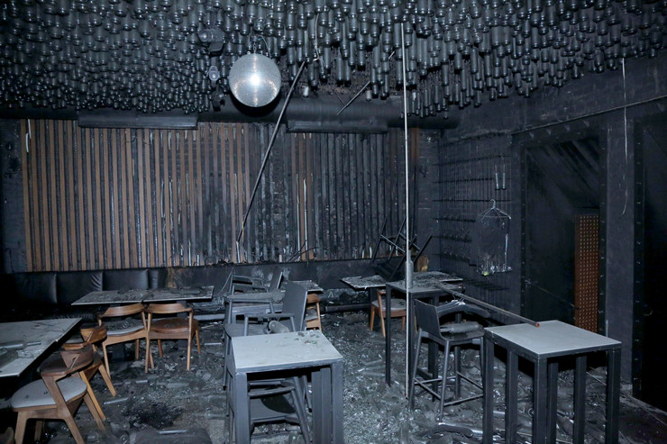Restoran Savamala Molotovljev koktel požar