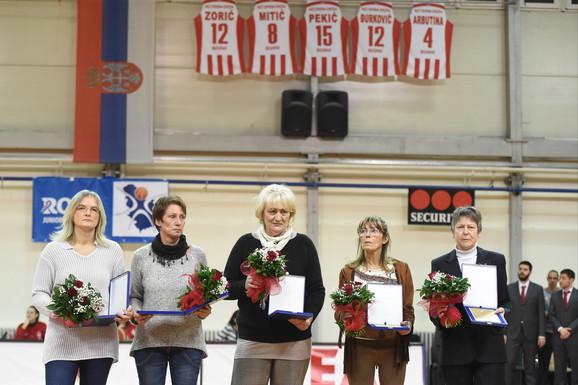 Zvezdine legendarne košarkašice: Anđelija Arbutina, Zorica Đurković, Sofija Pekić, Vukica Mitić i Snežana Zorić