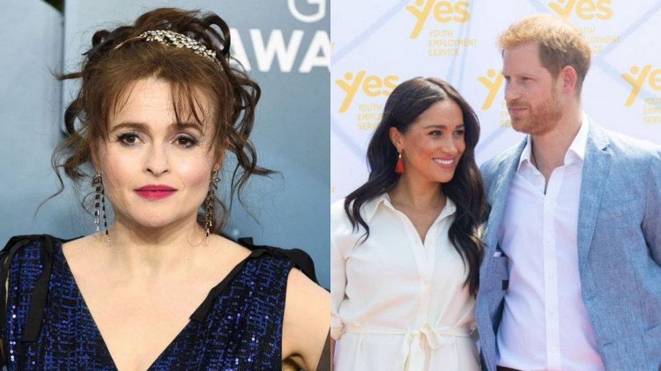 Helena Bonham Carter, księżna Meghan i książę Harry