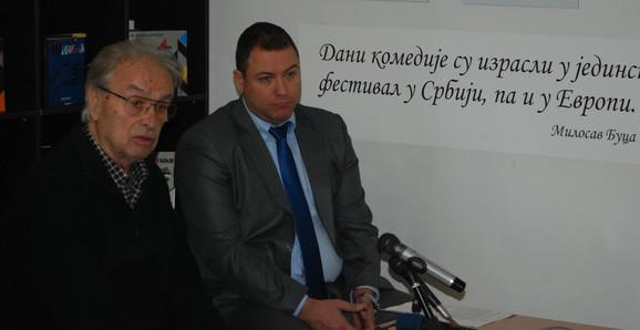 Dobrca Milićević, predsednik UO festivala, i Jug Radivojević selektor