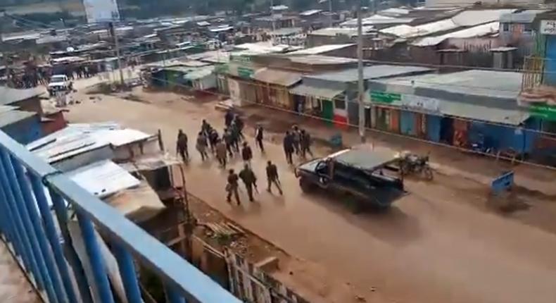 Police disperse rowdy protestors in Molo (Video)