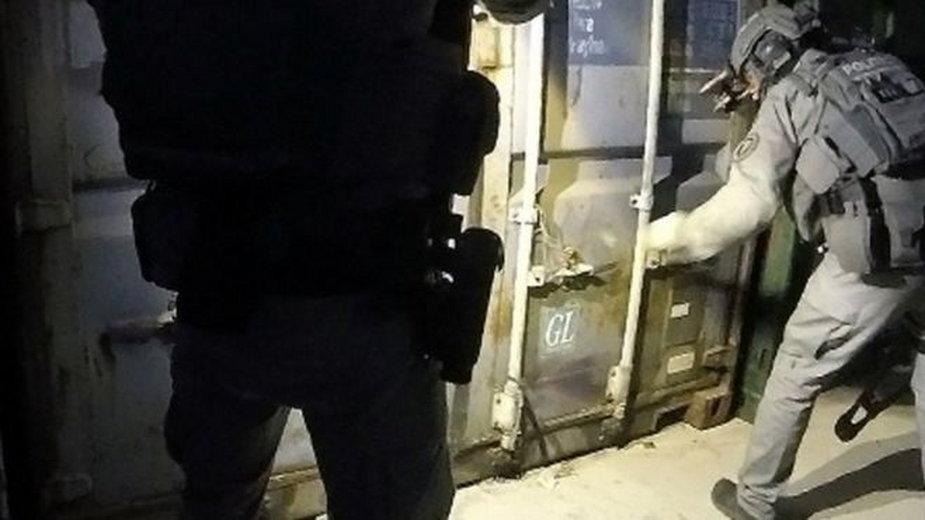 Zdjęcie z nagrania policji z akcji