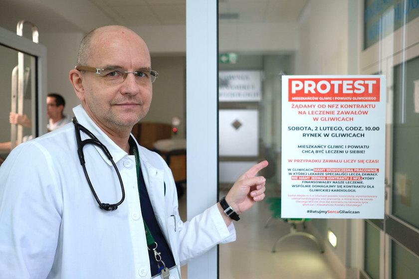 Dr nauk med. Tadeusz Zębik, ordynator oddziału kardiologii w Szpitalu Miejskim w Gliwicach