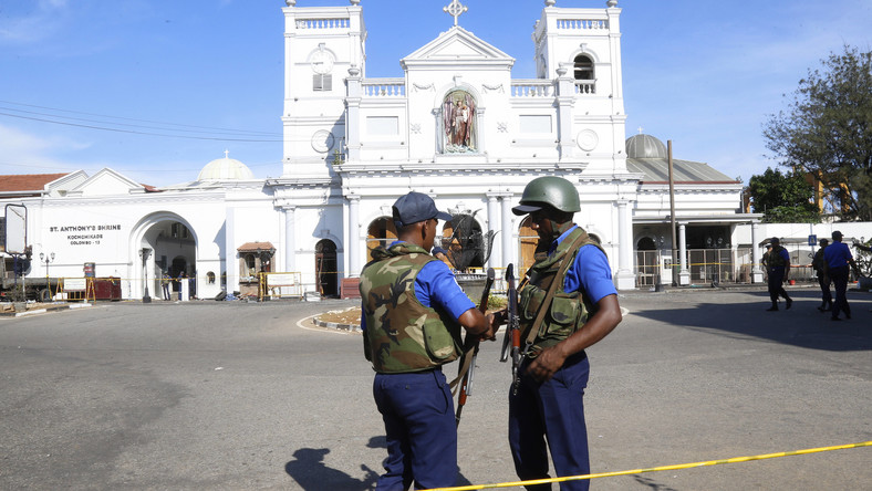 Kościół w Kolombo po dokonaniu zamachu