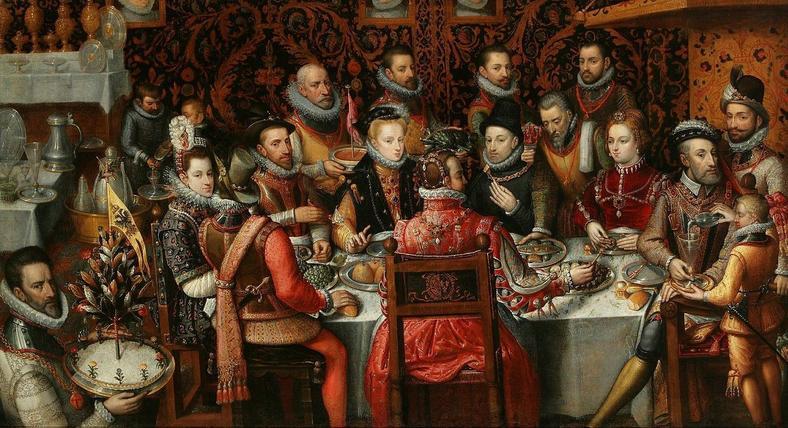 Det var det som festene så ut på slutten av renessansen