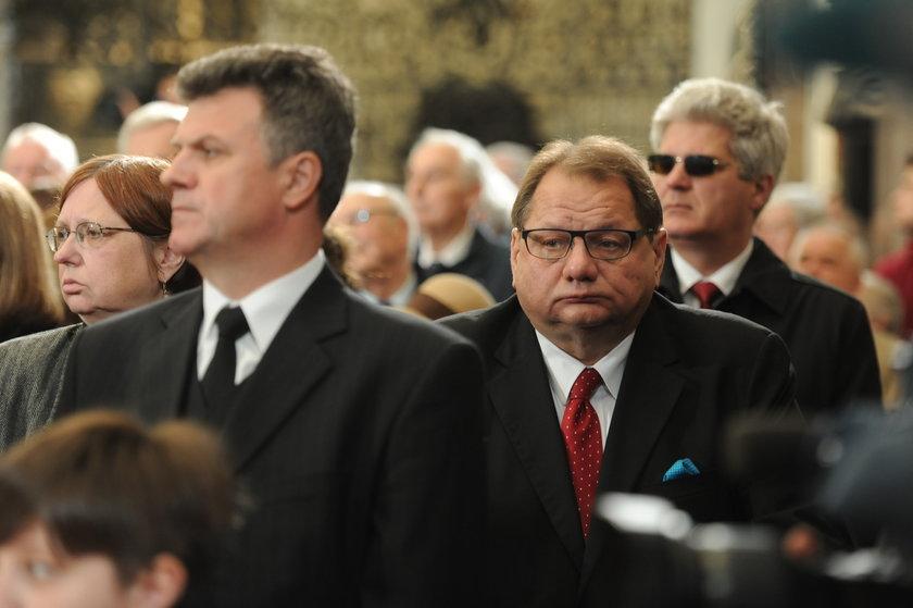 Ryszard Kalisz na pogrzebie Jaruzelskiego