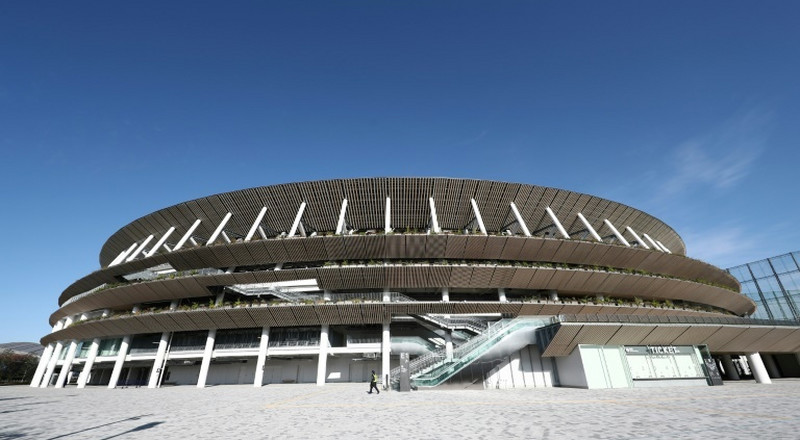Tokyo unveils heat-busting stadium, 7 months before Olympics