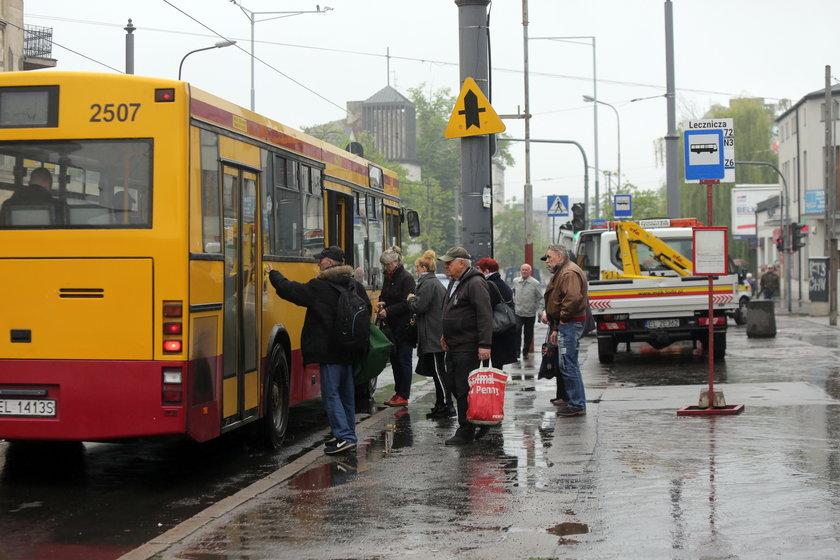 Łódź, wiata, przystanek, Rzgowska