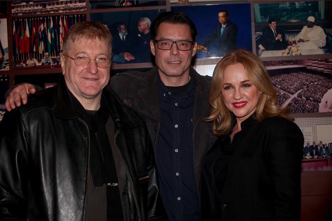 Goran Daničić, Igor Pervić i Natalija Vlahović na premijeri filma