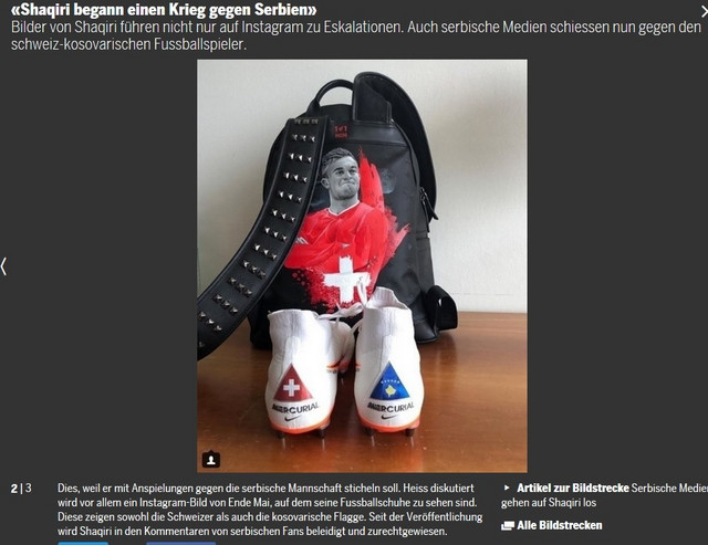 """Šaćiri je počeo rat sa Srbima"" - naslov na švajcarskom portalu Tages ancajger"