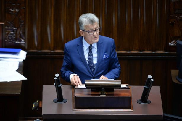 Stanisław Piotrowicz podczas posiedzenia Sejmu.