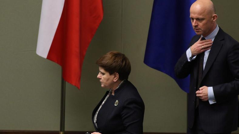 Beata Szydło i Paweł Szałamacha