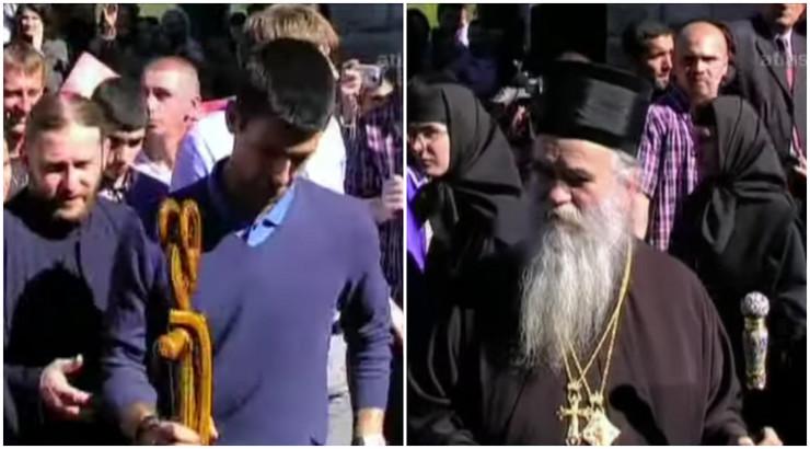 Novak Đoković i mitropolit Amfilohije