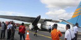Fatalne lądowanie. Samolot pękł na pół!