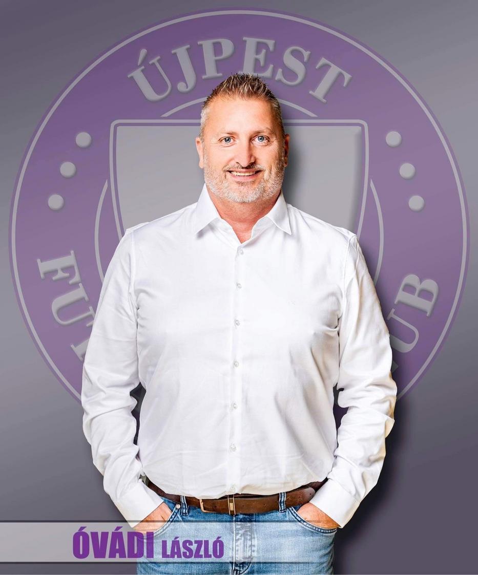 Óvádi László az Újpest Futsal Klub tulajdonosa és alelnöke/Foto: Újpest Futsal Klub