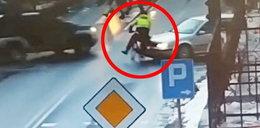 Pędził rowerem bez hamulców. Doszło do kraksy