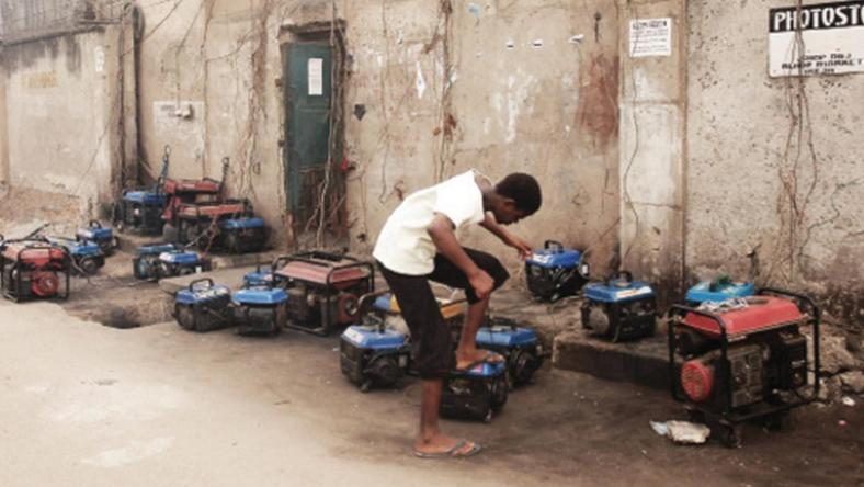 Generators used as alternative power supply by small businesses (Guardian)