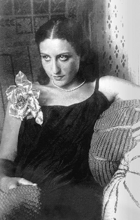 Józefina Szelińska, fotografię wykonał Brunon Schulz