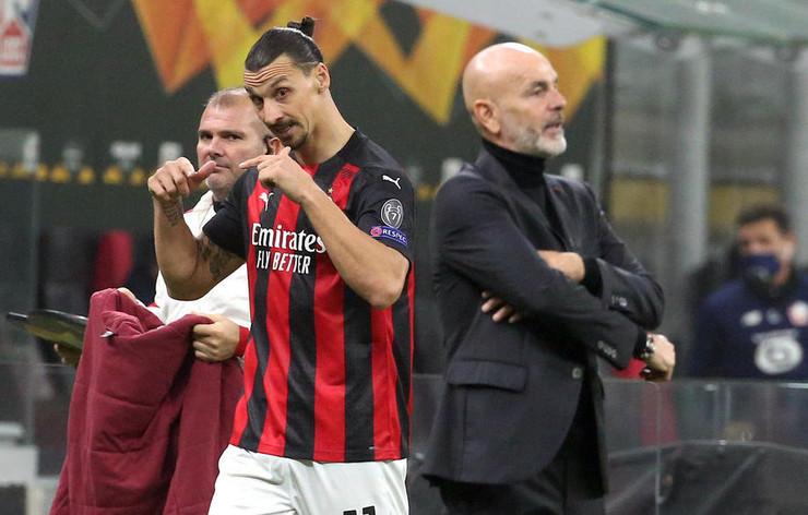 Zlatan Ibrahimović i Stefano Pioli