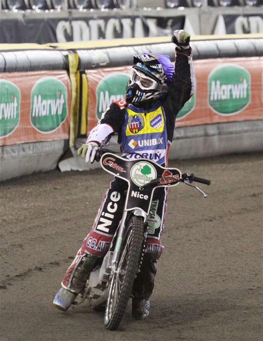 Emil Pulczyński był bohaterem meczu Unibaks Toruń - Betard Wrocław w pierwszej rundzie play-off ekstraligi