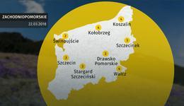 Prognoza pogody dla woj. zachodniopomorskiego - 22.03