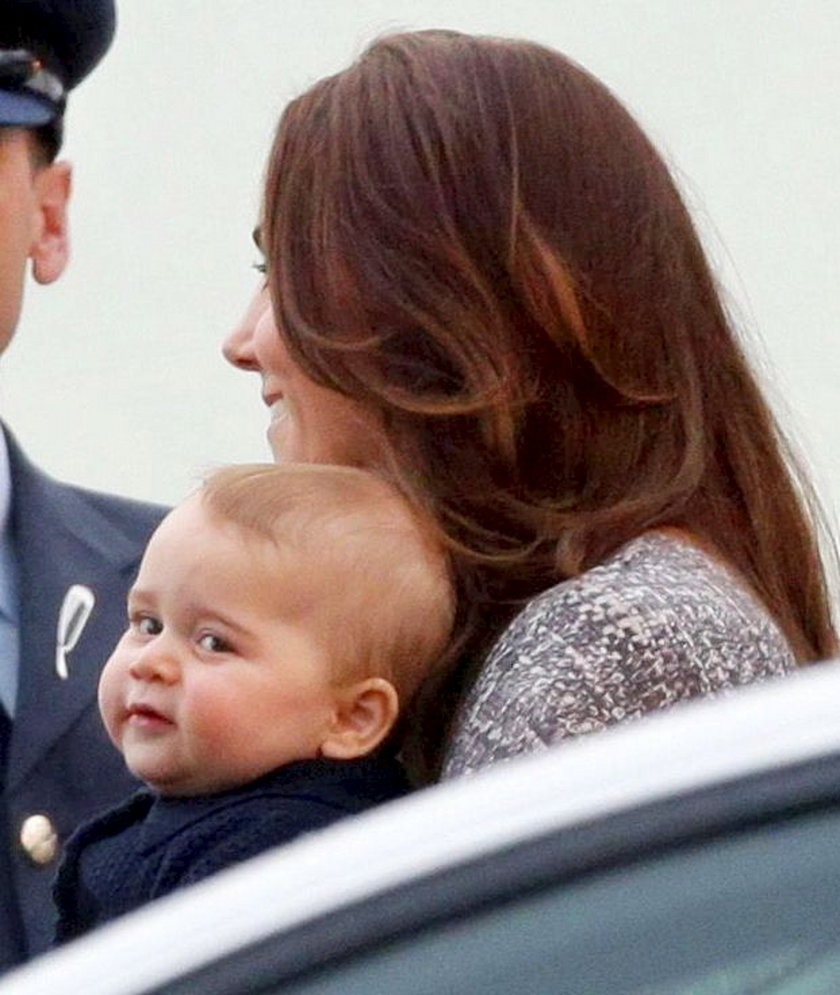 Księżna Kate z małym księciem Jerzykiem