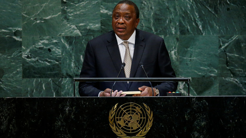Kenya's President Uhuru Kenyatta addresses the 73rd session of the United Nations General Assembly at U.N. headquarters in New York, U.S., September 26, 2018.