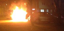 Pożar auta na Dolnym Mieście