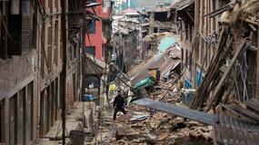 Trzęsienie ziemi w Nepalu przesunęło stolicę kraju Katmandu