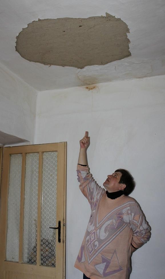 Uspela je da popravi veš-mašinu, ali za popravku krova nema para