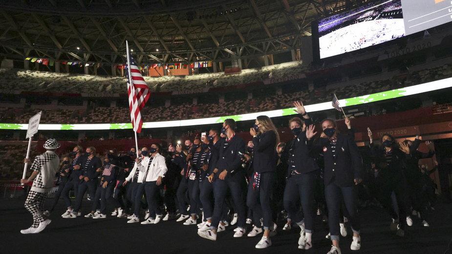 Reprezentanci Stanów Zjednoczonych na ceremonii otwarcia igrzysk olimpijskich