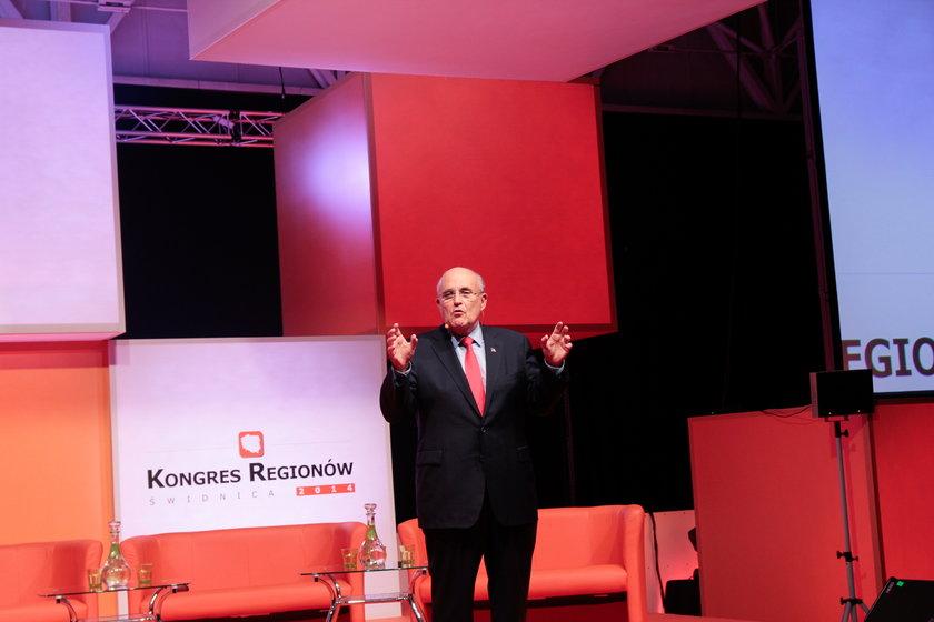 Rudolph Giuliani na Kongresie Regionów