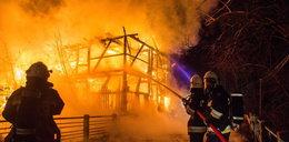 Pożar pod Skierniewicami. Spłonął zabytkowy młyn nad Rawką