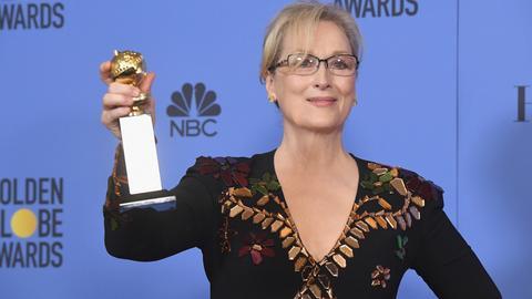 Meryl Streep to najczęściej nagradzana i nominowana przez HFPA aktorka. Otrzymała już 8. Złotych Globów i nagrodę honorową