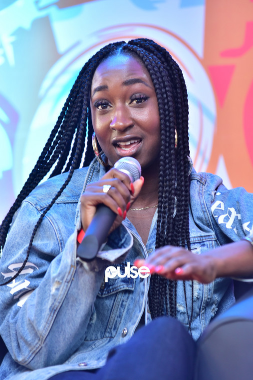 Besidone of Instagram, speaking at the Echo Music Conference 2019. (Pulse Nigeria)