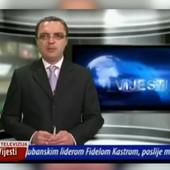 """""""ŠTO JE, JADAN!?"""" Navijanje iz pozadine ga načisto izbacilo iz takta! Urnbesni snimak crnogoskog voditelja - nastavio je vesti kao da se ništa nije dogodilo! /VIDEO/"""