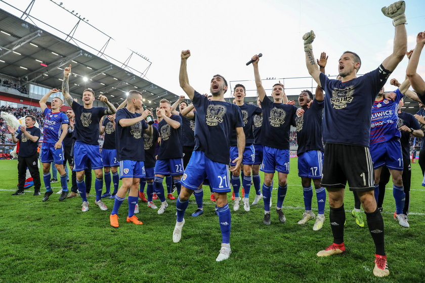 Piast Gliwice swietuje mistrzostwo Polski