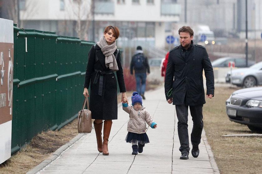 Dorota Gardias z rodziną