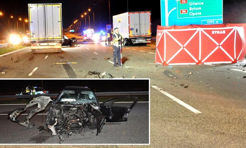 Makabryczny wypadek na A1. Siła zderzenia wyrzuciła kierowcę na jezdnię