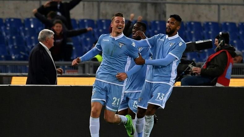 Lazio s midfielder Sergej Milinkovic-Savic (L) scored once in both legs of  the e7a81004c602f