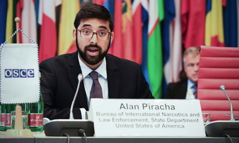 Foreign Affairs Officer Alan Piracha of the US State Department's Bureau of International Narcotics and Law Enforcement Affairs.