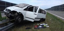 Naćpany Ukrainiec dachował na A4