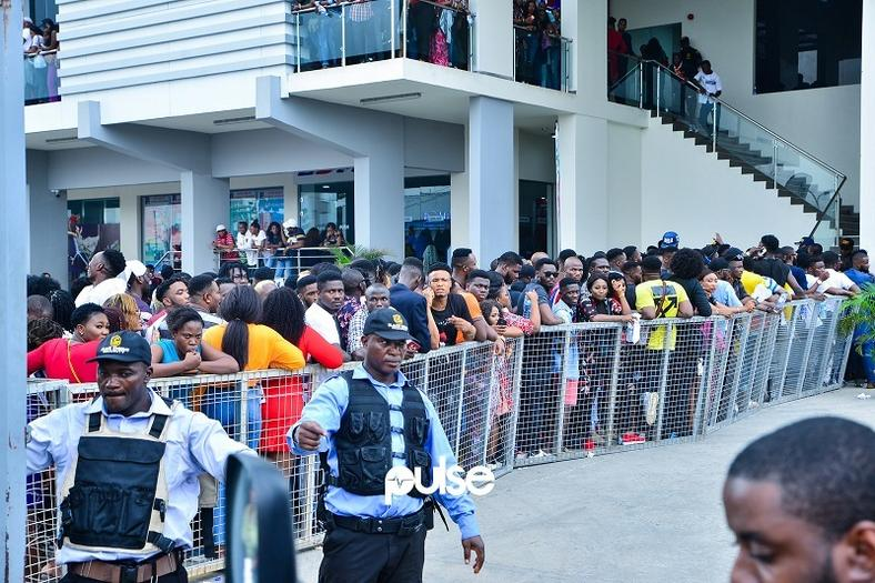 Thousands of Nigerians attended the BBNaija auditions in Lagos on Friday, February 1, 2019.