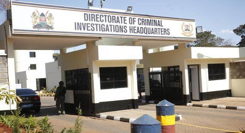 DCI headquarters. Treasury CS Henry Rotich surrenders to DCI moments after DPP Noordin Haji issued orders for his arrest in connection with dams scandal