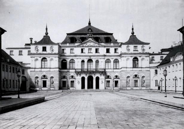 Pałac Brühla w Warszawie, fot. Henryk Poddębski, około 1939 roku