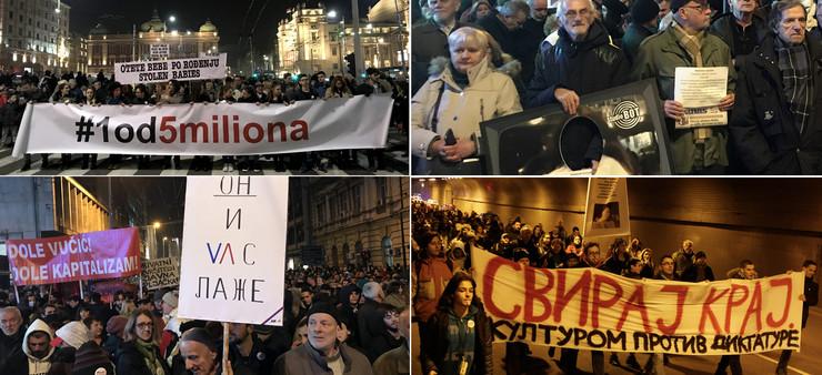 KOLAZ2 Protesti 04 foto V Zivojinovic Z Ilic