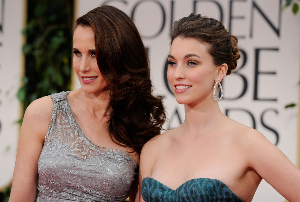 Andie MacDowell z córką Rainey Qualley (2012)