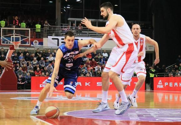 Danilo Anđušić na meču protiv Crvene zvezde
