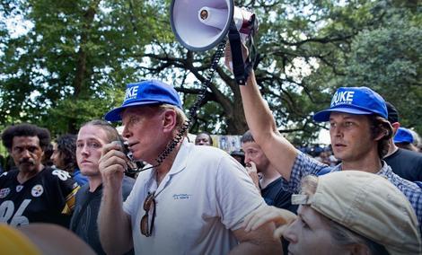 Dejvid Djuk, kandidat republikanaca za Senat, drži govor u Nju Orleansu 24. septembra